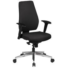 Amstyle Bürostuhl Darius schwarz Stoffbezug Drehstuhl mit 3-Punkt Synchronmechanik