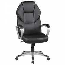 Amstyle Bürostuhl DETROIT Schwarz Kunstleder Schreibtischstuhl X-XL Chefsessel 120KG Drehstuhl mit Armlehne