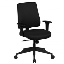 Amstyle Bürostuhl Matteo schwarz Stoffbezug Drehstuhl höhenverstellbar