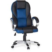 Amstyle Bürostuhl RACE Blau Gaming Chefsessel Racer Drehstuhl 120kg Synchronmechanik Schreibtischstuhl