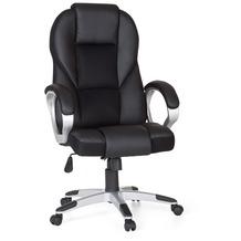 Amstyle Bürostuhl RACE Schwarz Gaming Chefsessel Racer Drehstuhl 120kg Synchronmechanik Schreibtischstuhl