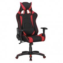 Amstyle Bürostuhl SCORE Stoffbezug Schwarz / Rot Schreibtischstuhl Chefsessel Gaming Chair Drehstuhl