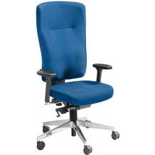 Amstyle Bürostuhl Stoff Blau ergonomischer Schreibtischstuhl höhenverstellbar, gebremste Hartboden-Rollen