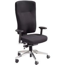 Amstyle Bürostuhl Stoff Schwarz ergonomischer Schreibtischstuhl höhenverstellbar, gebremste Hartboden-Rollen