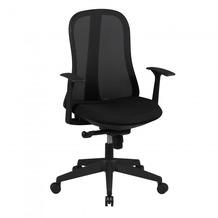 Amstyle Bürostuhl STYLE Stoffbezug Schwarz Schreibtischstuhl Design Chefsessel Drehstuhl