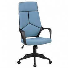 Amstyle Bürostuhl TECHLINE Stoffbezug Blau Design Chefsessel Drehstuhl mit Wippmechanik & Armlehne