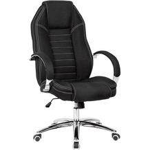 Amstyle Drehstuhl in Jeansoptik Bezug Stoff Schwarz Schreibtischstuhl bis 120 kg, Höhenverstellbar schwarz