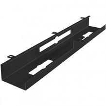 Amstyle Kabelkanal Schreibtisch 80x7x13 cm breit Untertisch Kabelführung schwarz