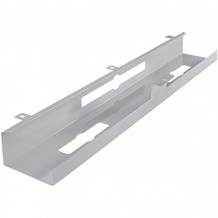 Amstyle Kabelkanal Schreibtisch 80x7x13 cm Untertisch Kabelführung silber
