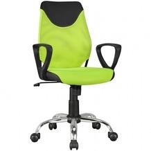 Amstyle Kinder-Schreibtischstuhl KiKa Schwarz Limette Kinder-Bürostuhl ergonomisch höhenverstellbar