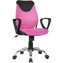 Amstyle Kinder-Schreibtischstuhl KiKa Schwarz Pink für Kinder ab 6 mit Lehne | Kinder-Drehstuhl