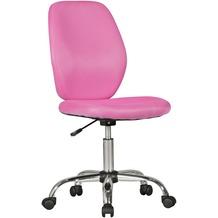Amstyle Kinderschreibtischstuhl EMMA pink für Kinder ab 6 mit Lehne, Kinder-Drehstuhl ergonomisch