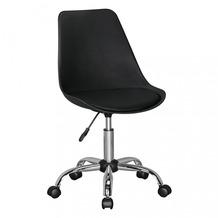 Amstyle KORSIKA | Drehstuhl Kunstleder Schwarz | Schreibtischstuhl Rückenlehne verstellbar