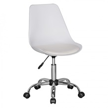 Amstyle KORSIKA | Drehstuhl Kunstleder Weiß | Drehsessel Schreibtischstuhl Rückenlehne verstellbar