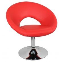 Amstyle Malta Loungesessel Leder Optik Farbe Rot
