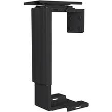 Amstyle PC-Halter SPM4.012 Schwarz 360° Drehbar Universal Computerhalterung 38,5 - 52,5 cm, Tischhalterung Befestigung Höhenverstellbar, Schreibtisch Zubehör, Tower Halterung Hängend schwarz