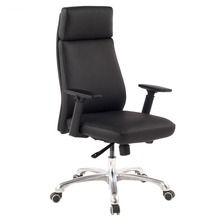 Amstyle PORTO | Bürostuhl aus Echtleder in schwarz | Chefsessel mit Synchronmechanik | XXL