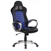 Amstyle Racer Sport Bürostuhl - Chefsessel Kunstleder blau / schwarz
