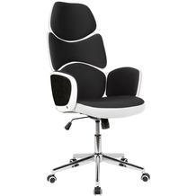 Amstyle Schreibtischstuhl Bezug Stoff Schwarz Drehstuhl bis 120 kg | Gepolsterter Drehsessel
