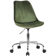 Amstyle Schreibtischstuhl Grün Samt mit Lehne, mit 110 kg Maximalbelastung, mit Rollen, drehbar