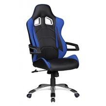 Amstyle SPEED Racing Chefsessel schwarz/blau Bürostuhl Drehstuhl mit synchronisierter Mechanik