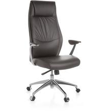 Amstyle XXL Chefsessel OXFORD 1 Echtleder Braun Bürostuhl 5-Punkt Synchronmechanik Drehstuhl 120kg