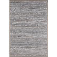 Andiamo In- und Outdoorteppich Bambus grau uni 133 x 190 cm