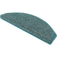 Andiamo Stufenmatten Shaggy aqua einfarbig 28 x 65 cm