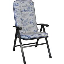 Angerer Stuhlauflage hoch Exklusiv Schmetterling blau