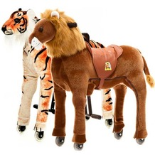 "Animal Riding Löwe Shimba & Tiger ""Shirkan""  medium, für Kinder von 4-8 Jahren (15 Kg - 65 Kg)"