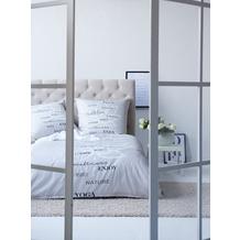 APELT Bettwäsche Juna Loft Dreams grau/weiß 135x200+80x80 cm