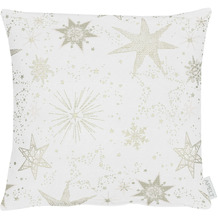 APELT Christmas Elegance Kissen Sternenmotiv als all-over natur / gold 39x39 cm