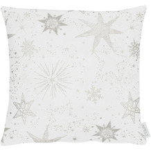APELT Christmas Elegance Kissenhülle Sternenmotiv als all-over weiß / silber 40x40 cm