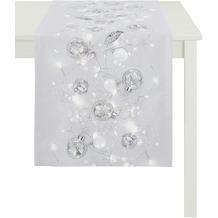 APELT Christmas Elegance Läufer hellgrau/silber 40x140