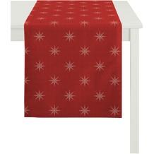 APELT Christmas Elegance Läufer rot/platin 48x140