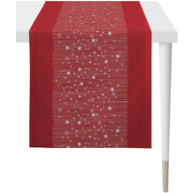 APELT Christmas Elegance Läufer Sternenmotiv rot / gold 48x140 cm