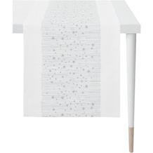 APELT Christmas Elegance Läufer Sternenmotiv weiß / silber 48x140 cm