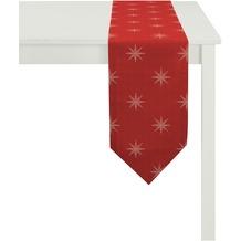 APELT Christmas Elegance Tischband rot/platin 24x175