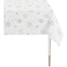 APELT Christmas Elegance Tischdecke Sternenmotiv als all-over weiß / silber 150x250 cm