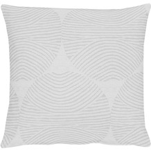 APELT Circle Loft Style Kissenhülle silber 40 cm x 40 cm