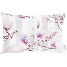 APELT Coloured Nights Kissenbezug grau / rose 40x80 cm, Kirschblüten