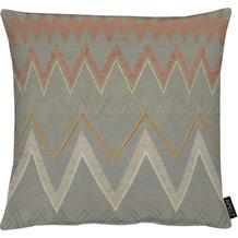 APELT Easy Elegance Kissen grau/orange 48x48 cm