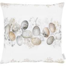 APELT Happy Easter Kissenhülle weiß/natur/grau 46x46 cm