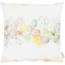 APELT Happy Easter Kissenhülle weiß/pastellfarben 46x46 cm