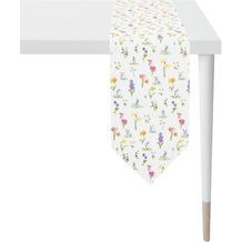 APELT Happy Easter Tischband natur/gelb/bunt 25x175 cm