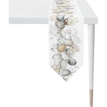 APELT Happy Easter Tischband weiß/natur/grau 25x175 cm