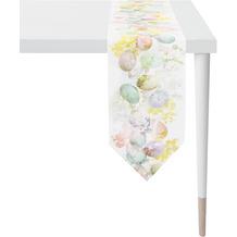 APELT Happy Easter Tischband weiß/pastellfarben 25x175 cm