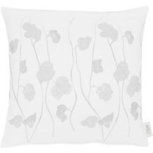 APELT Herbstzeit Kissen weiß/silber 45x45