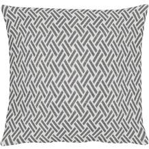 APELT Lodge Loft Style Kissenhülle grau-weiß 40 cm x 40 cm