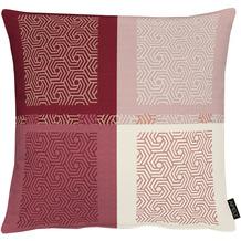 APELT Loft Style Kissen all-over Karo- Grafikmusterung rot 48x48 cm